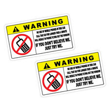 WARNING MOBILE PHONE Car Sticker Decal Car  #1172
