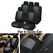 Polyester Fabric Car Seat Covers Protector Full Set For Interior Accessories