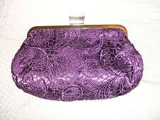 BNWT Red OR Purple Lace Handbag Clutch Style/Silver Chain Strap Wedding?
