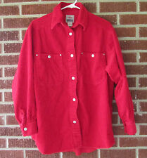 Vintage 90s Corduroy Shirt Jacket Union Bay Red Small