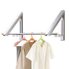 Edelstahl 2pcs Wandgarderobe Flur Garderobe mit Kleiderhaken Kleiderstange DHL
