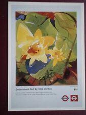 POSTCARD LTM 655 LONDON TRANSPORT 1999 POSTER EMBANKMENT BY TUBE & BUS