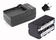 4400MAH NP-F750 Li-Ion Battery + Charger fr YN-300II YN160S LED-5012 5080 Light