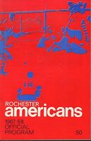 Rochester Americans 1967-68 Official Program 080217nonjhe