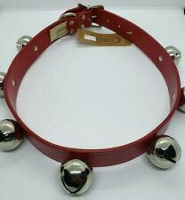 """New Auburn Leathercrafters Classic Red Jingle Bell Dog Pet Collar Size 1.25""""x30"""""""