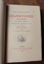 1882 Chansonnier Historique  Eau-forte Rousselle Louis XV Châteauroux Mailly