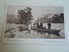 Vintage Old Postcard - MISSION TRAVEL IN CANOE (Colombia)   §A877