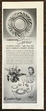 1942 Cambridge Caprice Crystal Print Ad America's Favorite