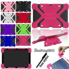 """Fit Various 9"""" 10"""" Tablet Universal Shockproof Silicone Stand Cover Case +Stylus"""