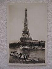 Vintage Postcard Vue sur la Seine et al Tour Eiffel Real Photo C.A.P. Paris