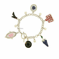 NEW Disney Store MARY POPPINS BROADWAY MUSICAL 6 Pendant Charm Bracelet Set NIB