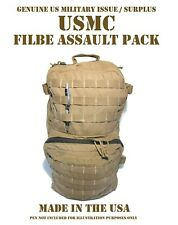 Usmc Combat Field Backpack Filbe Assault Patrol Pack Repaired Useable Coyote Tan