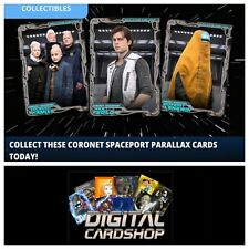 Topps Star Wars Card Trader SWCT SOLO Coronet Spaceport Parallax set of 7
