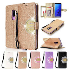 For Samsung Galaxy Note 9 S8 S7 Phone Case Cover Card Wallet Flip Leather Stand