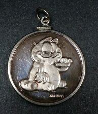 1978 Garfield Cat Collectible Coin 1/2 Troy Oz .999 Fine Silver Vintage Round