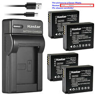 Kastar Battery Slim USB Charger for Panasonic DMW-BLE9E DMW-BLG10 Lumix DMC-ZS60