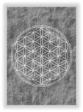 Die Blume des Lebens Nr.25 - Flower of Life Lebensblume Chakra Bild NEU in Grau