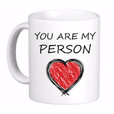 You are My Person Red Heart Coffee Cup Mug, Boyfriend Girlfriend Best Friend