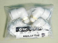 (4) BRAND NEW - PACK OF 4x Pieces SMC KQ2L16-03S Male Elbow One-Touch Fitting