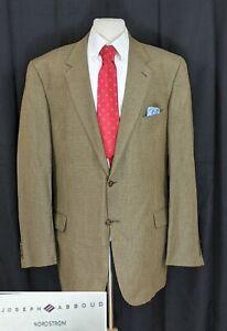 Joseph Abboud Men's Sport Coat Silk Wool Blazer Geometric Jacket Size 46X
