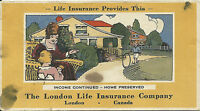 Vintage Ink Blotter London Life Insurance Company Family Home Kids ON Canada