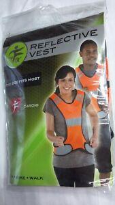 MY FIT; ORANGE REFLECTIVE SAFETY VEST, CARDIO, RUNNING, BIKING,WALKING -ONE SIZE
