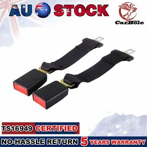 2x Seat Seatbelt Safety Belt Extender High Strength Car Extension Buckle Clip AU