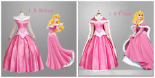 Animación Sleeping Beauty Princesa Aurora Hermoso Disfraz Cosplay Traje