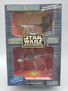 Star Wars Action Fleet Series Alpha Rebel b-Wing Starfighter Galoob 1998