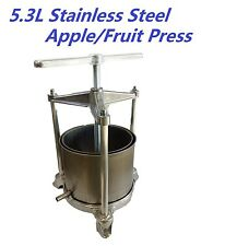 5.3L Stainless Steel Multi-purpose Wine/Apple/Fruit Cider/Cheese making Press