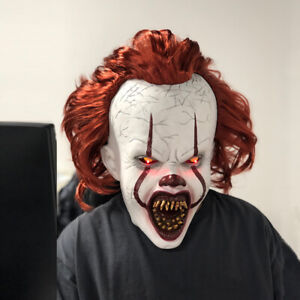 Halloween Mask Latex Cosplay Scary Costume Stephen King's IT Clown Pennywise