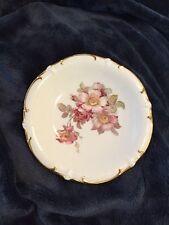 Schumann Arzberg Germany Bavaria Golden Crown Wild Rose Decorative Plate