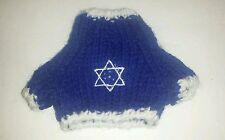 Star of David Jewish XS Knit Teddy Bear or doll Turtleneck Sweater Clothing