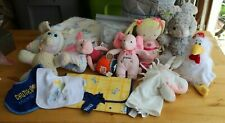 Box Full of Baby Things - Toys, Crib Bumper, Bibs, Blanket, Electrical Plugs +