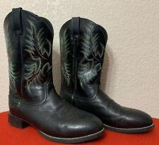 ARIAT Heritage Stockman 11 EE Barnyard ROUND TOE BLACK Riding Boot 10009594