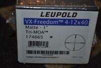 "Leupold VX-Freedom 4-12x40mm Matte 1"" Rifle Scope Tri-MOA Reticle 174665"