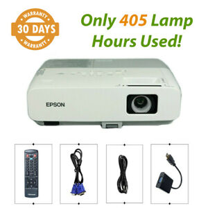Epson PowerLite 85+ 3LCD Projector 2600 ANSI HD 1080i - Only 405 Lamp Hours Used