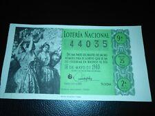 ESPAÑA DÉCIMO LOTERÍA NACIONAL 1960 SORTEO 14