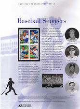 #772 39c Baseball Sluggers #4080-4083a USPS Commemorative Stamp Panel