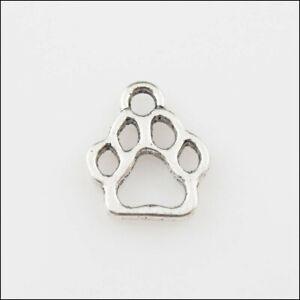 50 New Charms Tibetan Silver Tone Tiny Bear's-paws Pendants DIY 11x13mm