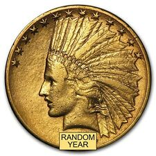 $10 Indian Gold Eagle Coin - Pre-33 Gold Coin -Random Year - Cleaned -SKU #23203