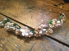 Antique Vintage Silk Millinery Flower Swag~Spray~Branch For Hats~Sewing~Crafts