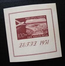 Yugoslavia 1951 - Block - Slovenia Croatia - zefiz bridge ship airplane  C12