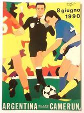 Cartolina Mondiali Di Calcio Italia 90 Ugo Nespolo - Milano (Stadio Meazza)