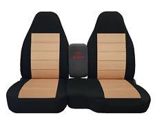 2004-2012 FORD RANGER 60/40 HIGH BACK CAR SEAT COVERS black-tan