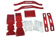 T-Maxx, S-Maxx red anodized aluminum package with free silver dual rate sprin