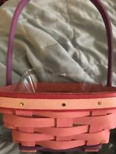 Longaberger 2015 Pink Easter small Spring Delight Basket w/protector NEW