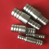 304 Stainless Steel Reducer Straight Hose Joiner Barbed Connector Pipe Tubing