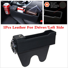1Pcs Car Driver Seat Gap Filler Storage Box+ Cup Holder For Interior Accessories