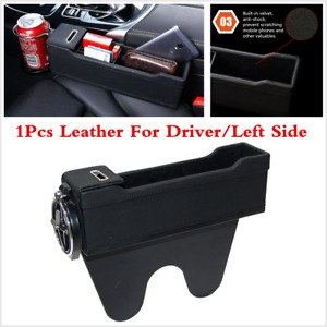 Storage Box With Cup Holder Fit For Car Driver Seat Gap Filler Home Travel